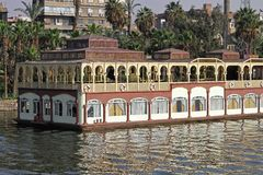 Floating restaurant Nile Royalty Free Stock Photography