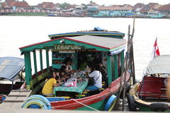 Floating restaurant Stock Photography