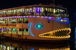 Floating restaurant, Saigon Stock Images