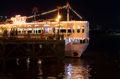 Floating restaurant on Saigon river Royalty Free Stock Images