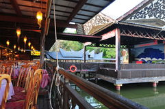 Floating restaurant Royalty Free Stock Photos