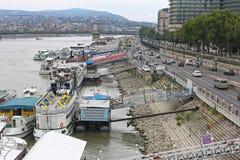 Floating Restaurants Budapest Royalty Free Stock Images