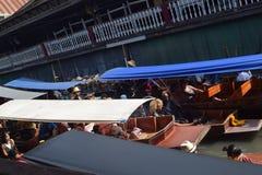 Floating River,  Bangkok. Busy Floating River in Bangkok Thailand Stock Images