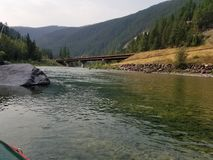 Floating the river. Fly fishing montana Stock Images