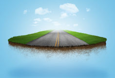 A floating road. Going into the clouds Royalty Free Stock Photos