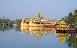 Floating Royal barge Karaweik Stock Photo