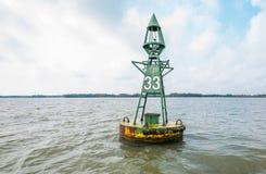 Sea buoy or marine boy Stock Photo