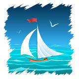 The Floating Sailboat Royalty Free Stock Image