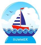 Floating sailboat Stock Photo