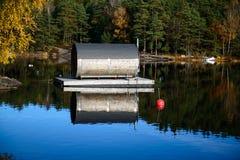 Floating sauna Royalty Free Stock Photography