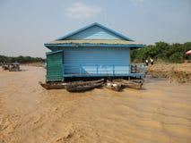 Floating School - Tonle Sap, Cambodia Royalty Free Stock Photos