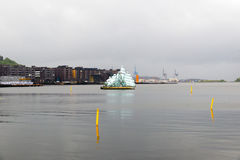 The floating sculpture in front of the Oslo Opera House, namely Royalty Free Stock Photography