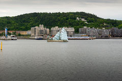 The floating sculpture in front of the Oslo Opera House, namely Stock Photo