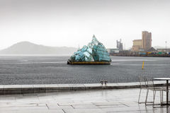 The floating sculpture in front of the Oslo Opera House, namely Stock Photography
