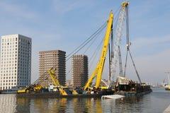 Floating Sea crane. Royalty Free Stock Photos