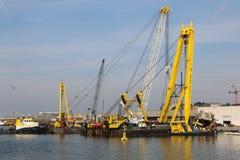 Floating Sea crane. Stock Photos