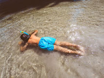 Floating in sea water Stock Photography
