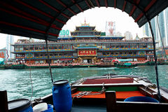 Floating seafood restaurant Royalty Free Stock Photo