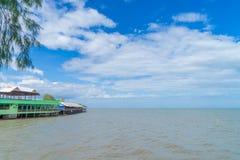Floating Seafood Restaurant in Samut Songkhram Royalty Free Stock Image