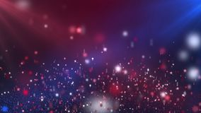 Floating Shining Stars Red and Blue Looping Motion Background