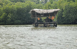 Floating shop at Madu River Royalty Free Stock Image