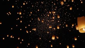 Floating sky lanterns in Chiang Mai ,Thailand.