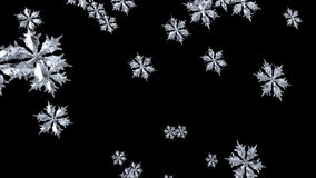 Floating Snowflake 2 stock video footage