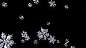 Floating Snowflake seamless stock video