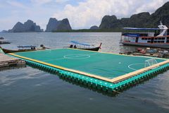 Floating soccer stadium, thailand Royalty Free Stock Images