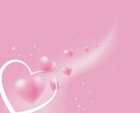 Floating soft pink hearts. Background Royalty Free Stock Photo