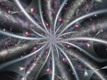 Floating spiralling hearts. Floating spiralling pink fractal hearts image Stock Illustration