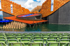 The Floating Stage on the shores of Lake Constance, Austria Royalty Free Stock Image