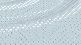 Floating surface made with hexagons. Loop ready animation stock footage