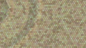 Floating surface made with hexagons. Loop ready animation stock video