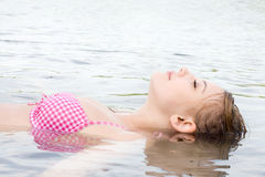 Floating to relax Stock Image