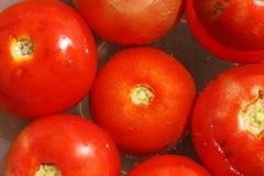 Floating tomato Stock Photo