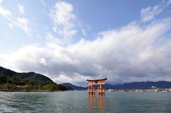 Floating Torii gate of Itsukushima Shrine, Japan Royalty Free Stock Photos