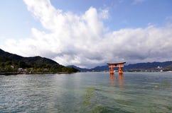 Floating Torii gate of Itsukushima Shrine, Japan Royalty Free Stock Photo