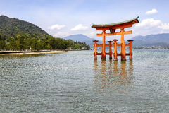 The floating torii gate of Itsukushima Shrine, Japan Royalty Free Stock Photography