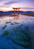 The floating Torii Gate, Miyajima island, Hiroshima, Japan Stock Photos