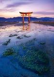 The floating Torii Gate, Miyajima island, Hiroshima, Japan Stock Photos