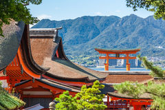 Floating torii gate in Miyajima Royalty Free Stock Image