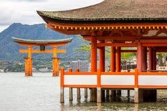 Floating torii Miyajima Hiroshima Royalty Free Stock Image