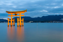 Floating torii Miyajima Hiroshima Stock Photo
