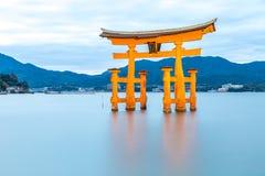 Floating torii Miyajima Hiroshima Royalty Free Stock Images