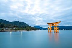 Floating torii Miyajima Hiroshima Stock Image
