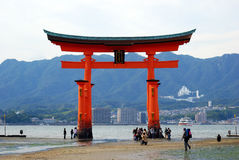 The Floating Torii, Miyajima, Japan. The Floating Torii is one of the most famous sight in Japan Stock Photos