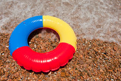 Floating toy at the beach Royalty Free Stock Photos