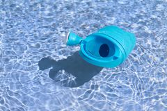 Floating toys in the swimming pool Stock Image