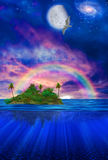 Floating Tropical Island Stock Photography